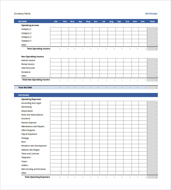 17+ Sample Business Budget Templates   Word, PDF, Apple Pages