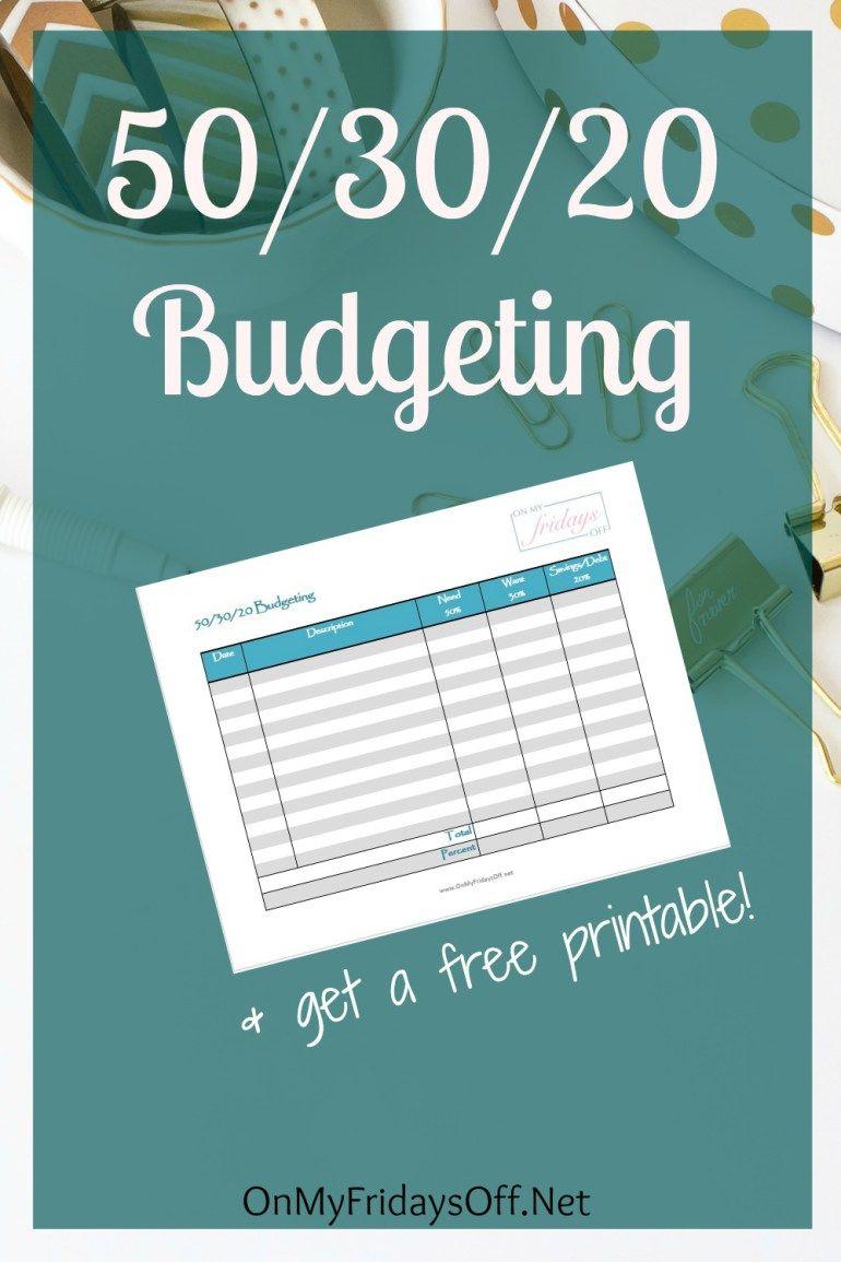 50/30/20 Budgeting | Money Money Money | Budgeting, Budgeting