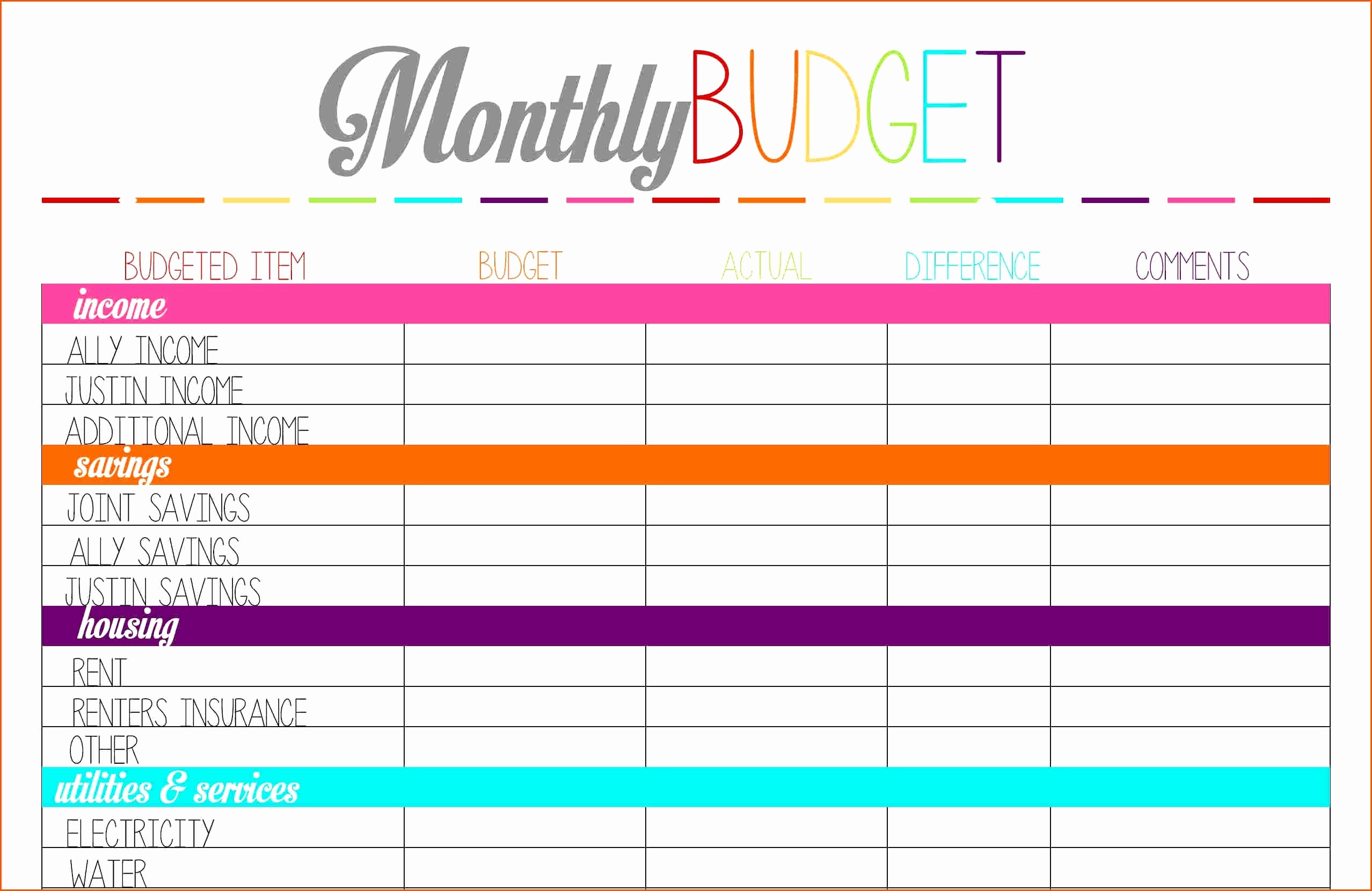 50 30 20 Budget Spreadsheet Monthly Guidelines How Do I My Money