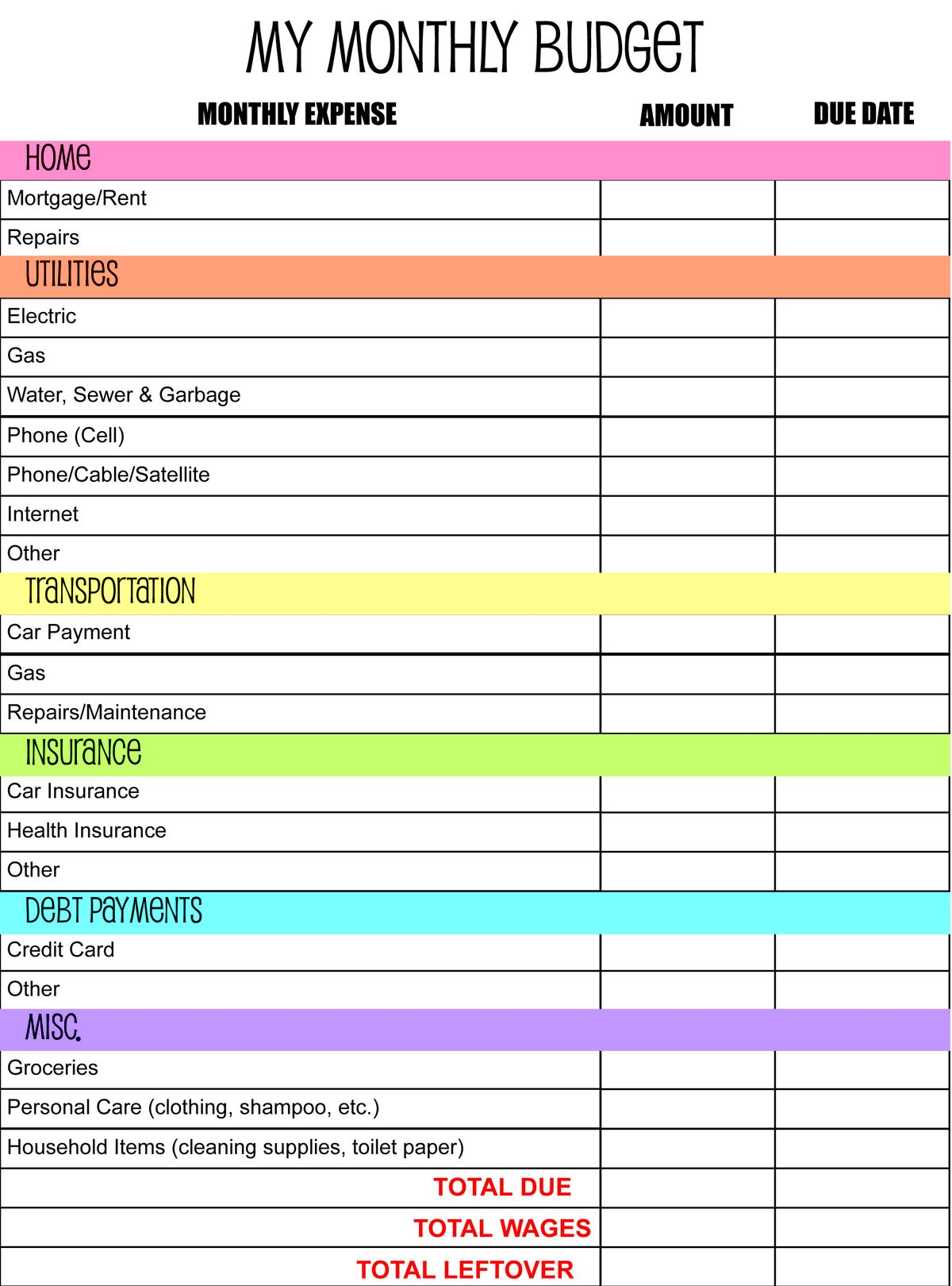 Budgetdsheet Collections Excel Budgeting Template 50 30 20 Budget