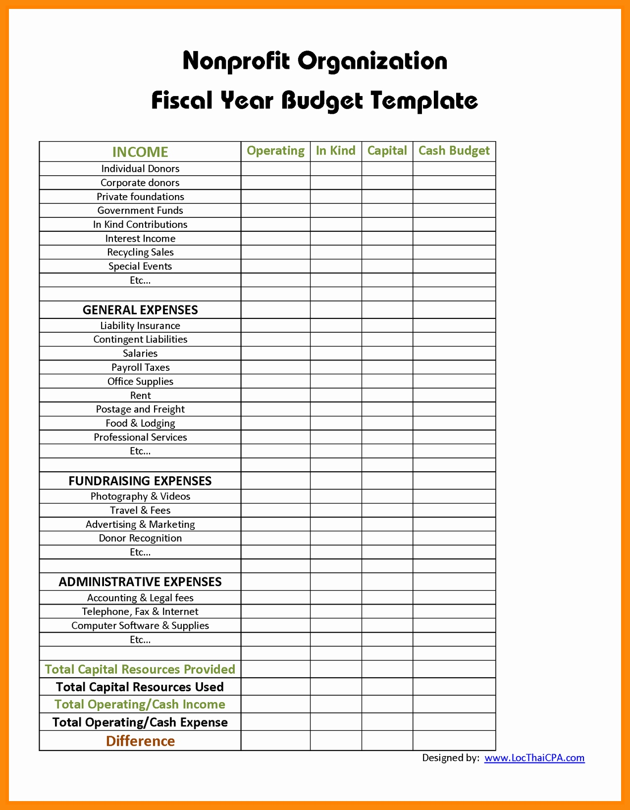 10+ Nonprofit Budget Templates   Word, PDF, Excel | Free & Premium