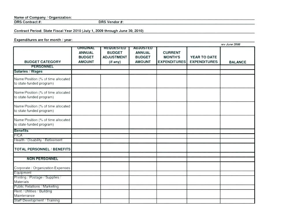 Department Budget Templates 9 Free Word Documents Download Fire
