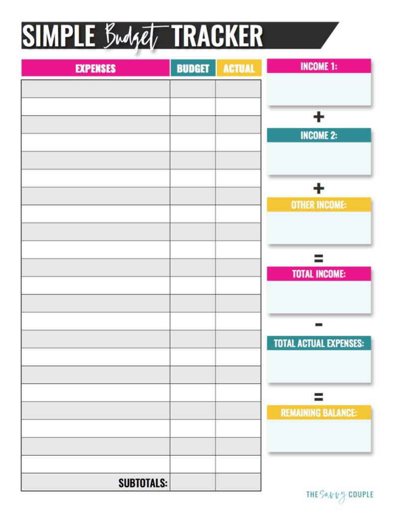 Simple Monthly Budget Tracker (Printable & Digital) | Printables