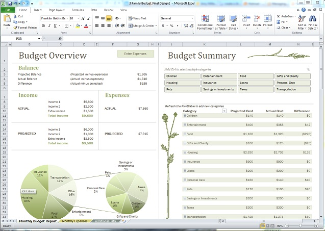 Basic Budget Template Excel Free | camisonline.net