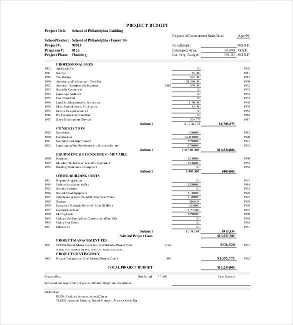 13+ Construction Budget Templates   Docs, PDF, Excel | Free