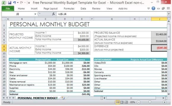 Basic Budget Template Excel Free | camisonline.net