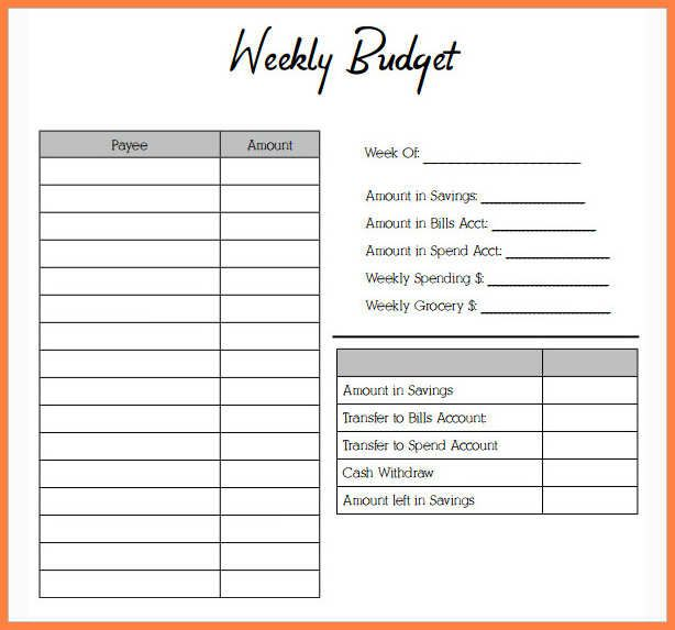 Budget Expenses Worksheet A4 Size   Blank Templates   Budgeting