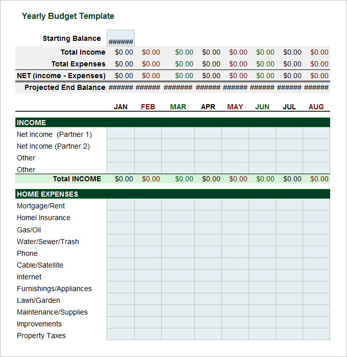 20+ Budget Templates for Excel   Vertex42.com