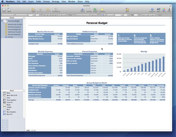 numbers personal budget template   Sazak.mouldings.co