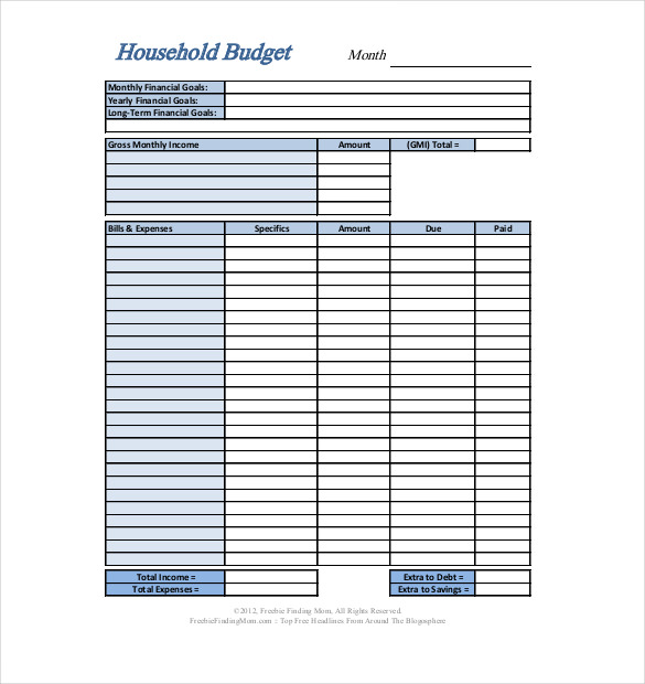 Personal Budget Template   Business Accounting Basics