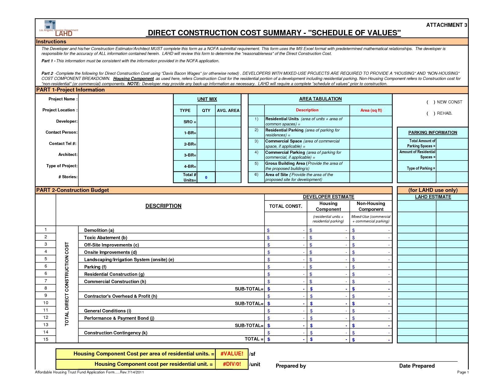 Building New Home Budget Worksheet Bud House Build Spreadsheet