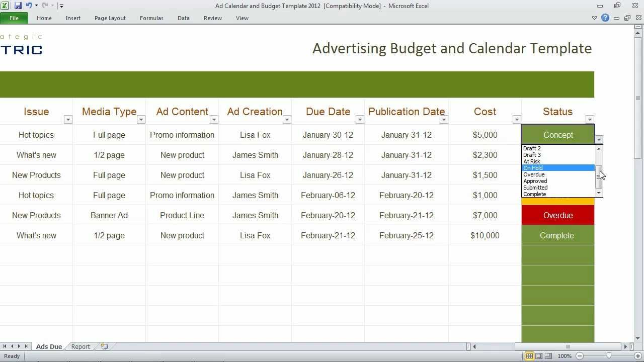 11+ Sample Budget Calendar Templates   Word, Pages | Free