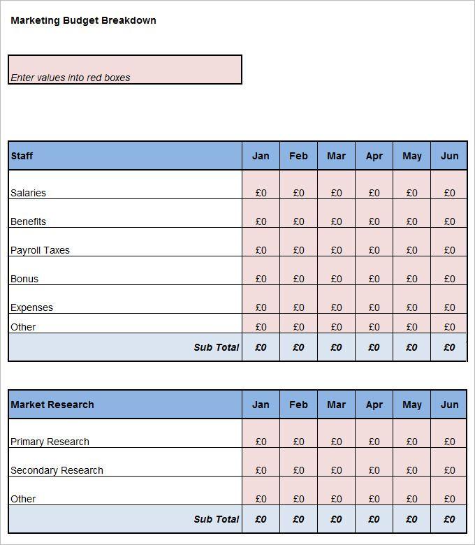 Marketing Budget Templates | 21+ Free MS Docs, Xlsx & PDF