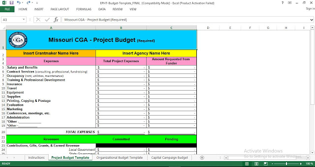 Project Budget Template Excel   ENGINEERING MANAGEMENT