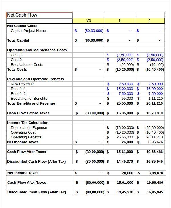 Cash Flow Spreadsheet Template , Cash Budget Template , cash