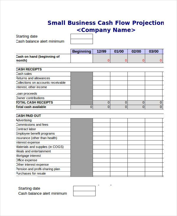 Cash Flow Projection Template Excel , Cash Budget Template , cash