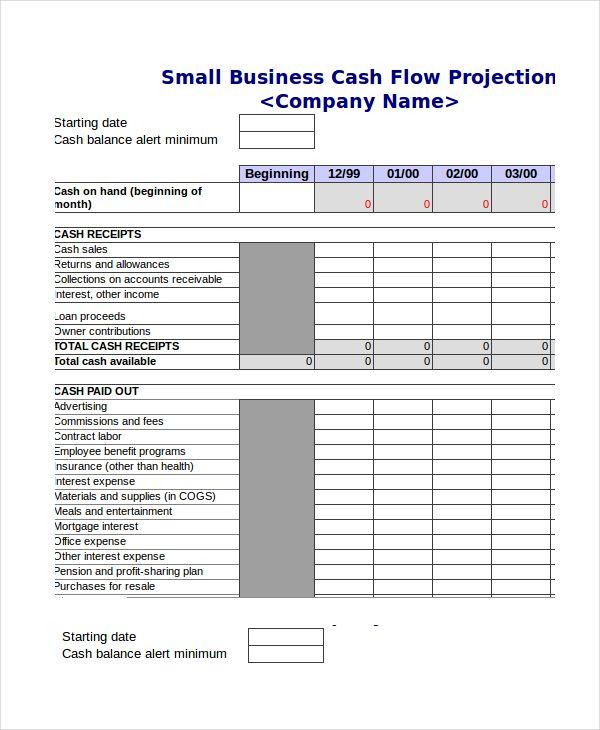 Cash Flow Projection Template Excel , Cash Budget Template , cash