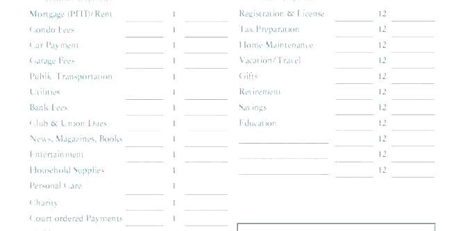 Free Monthly Budget Template Cute Design In Excel Worksheet