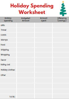 Seven FREE Printable Christmas Budget Forms   Queen of Free
