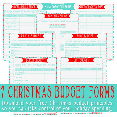 Christmas Shopping Budget Template in Excel