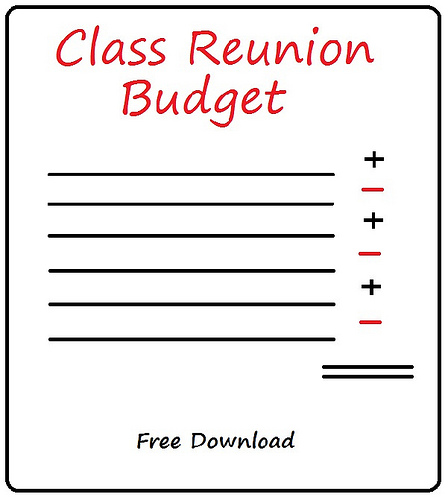 Class Reunion Budget: Free Sample Download — GroupTravel.org