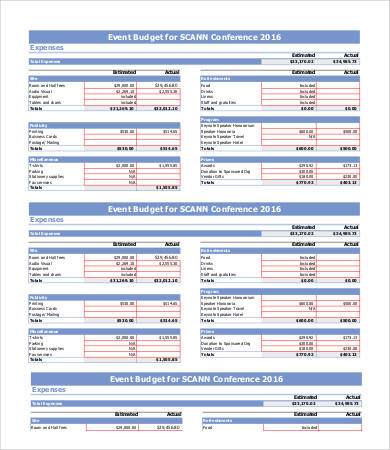 conference budget template excel   Sazak.mouldings.co