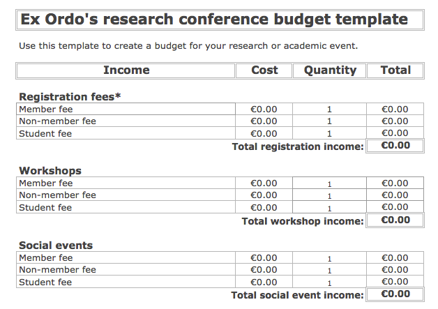 Your Free Conference Budget Template (With Tips) | Ex Ordo