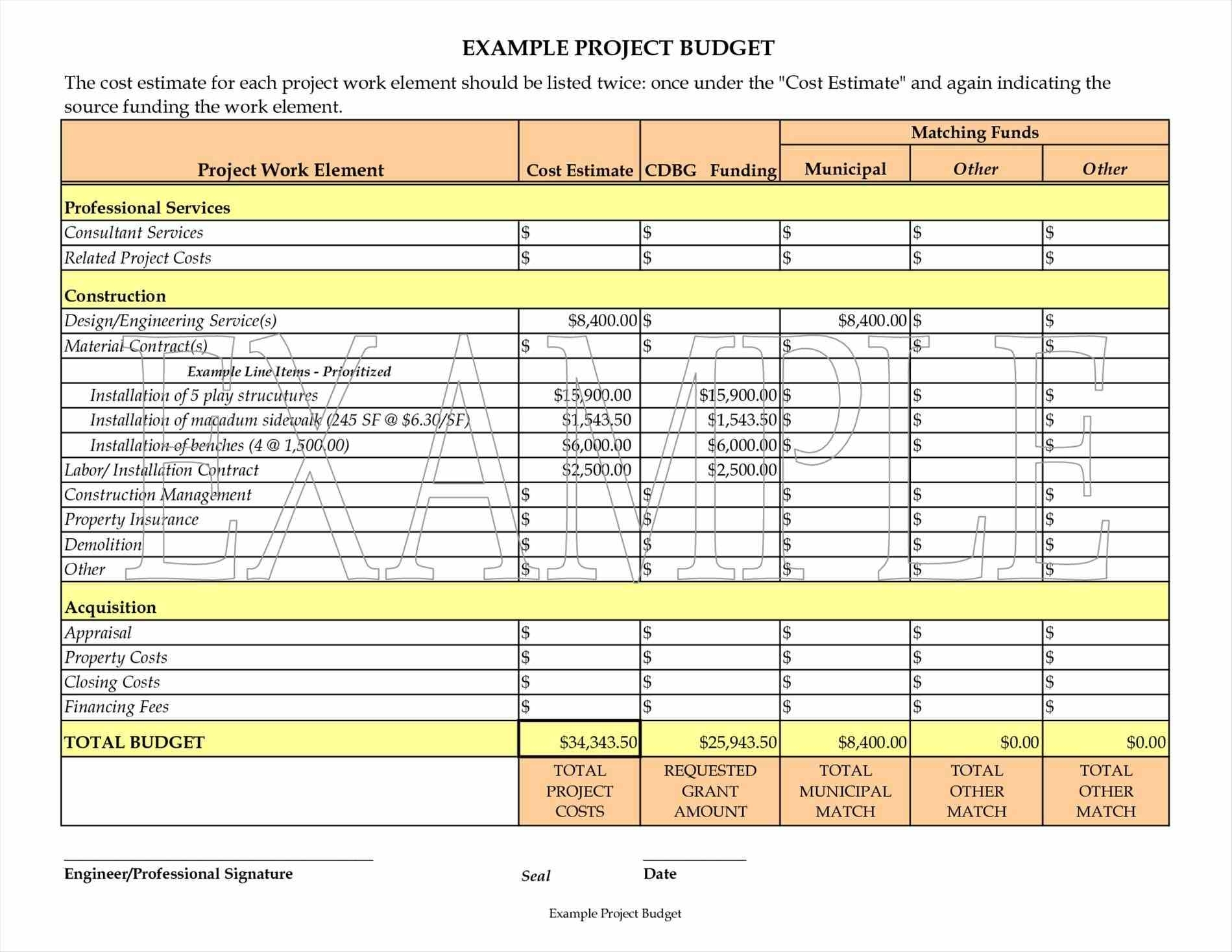 Construction Budget Template   7+ Cost Estimator Excel Sheets