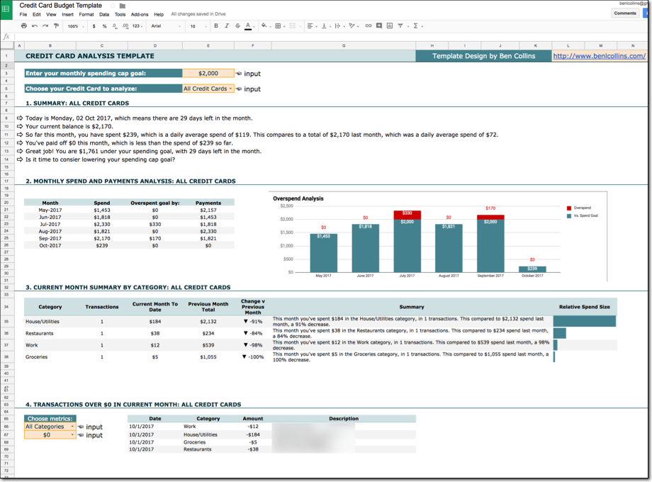 Windows Spreadsheet Luxury Credit Card Template Personal Finance