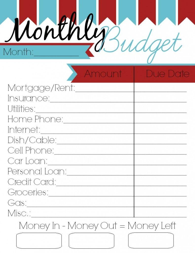 003 Cute Monthly Budget Template Impressive Ideas ~ Nouberoakland