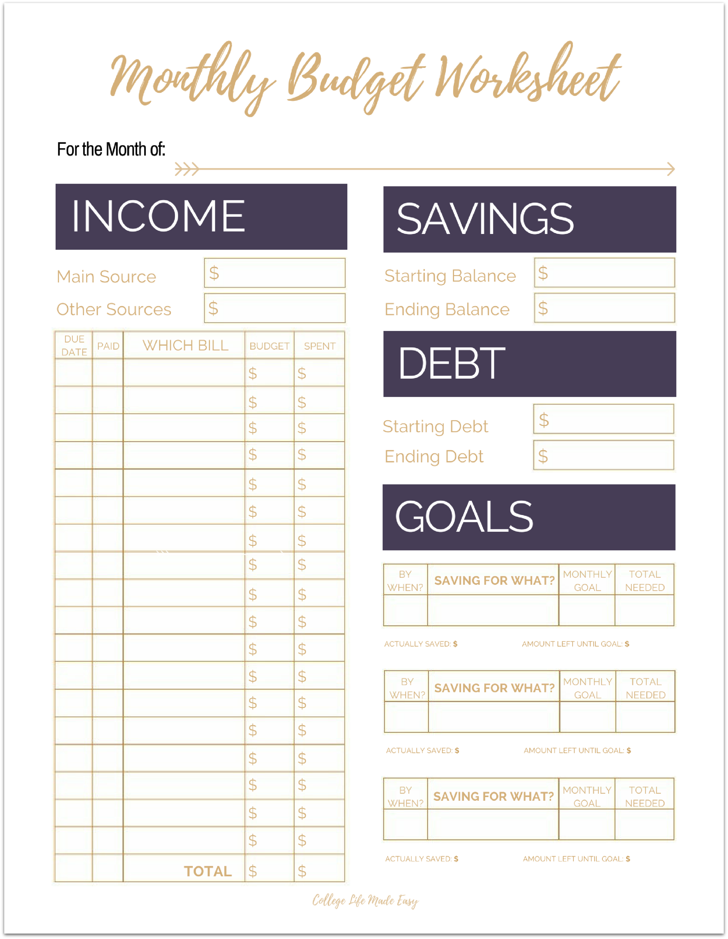 Fix Your Finances ASAP with My (Free) Simple Monthly Budget
