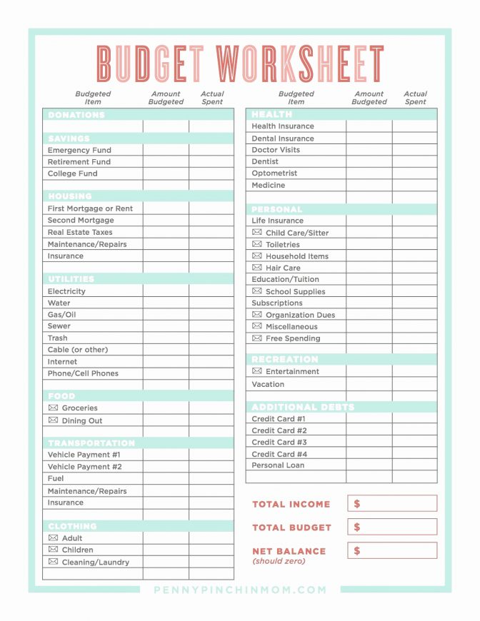 Dave Ramsey Zero Based Budget Spreadsheet Balance Worksheet