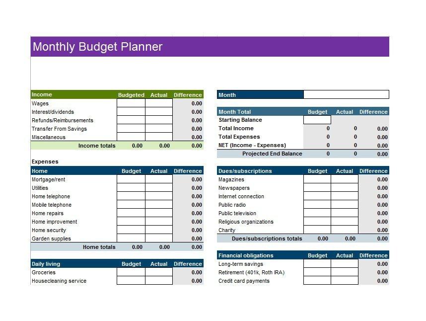 30+ Budget Templates & Budget Worksheets (Excel, PDF) ᐅ Template Lab