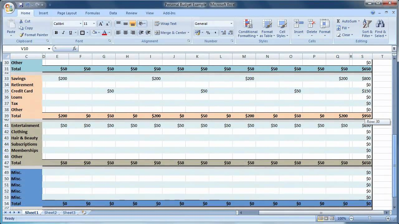 011 Monthly Budget Template Excel 20how To Setup Personal20et