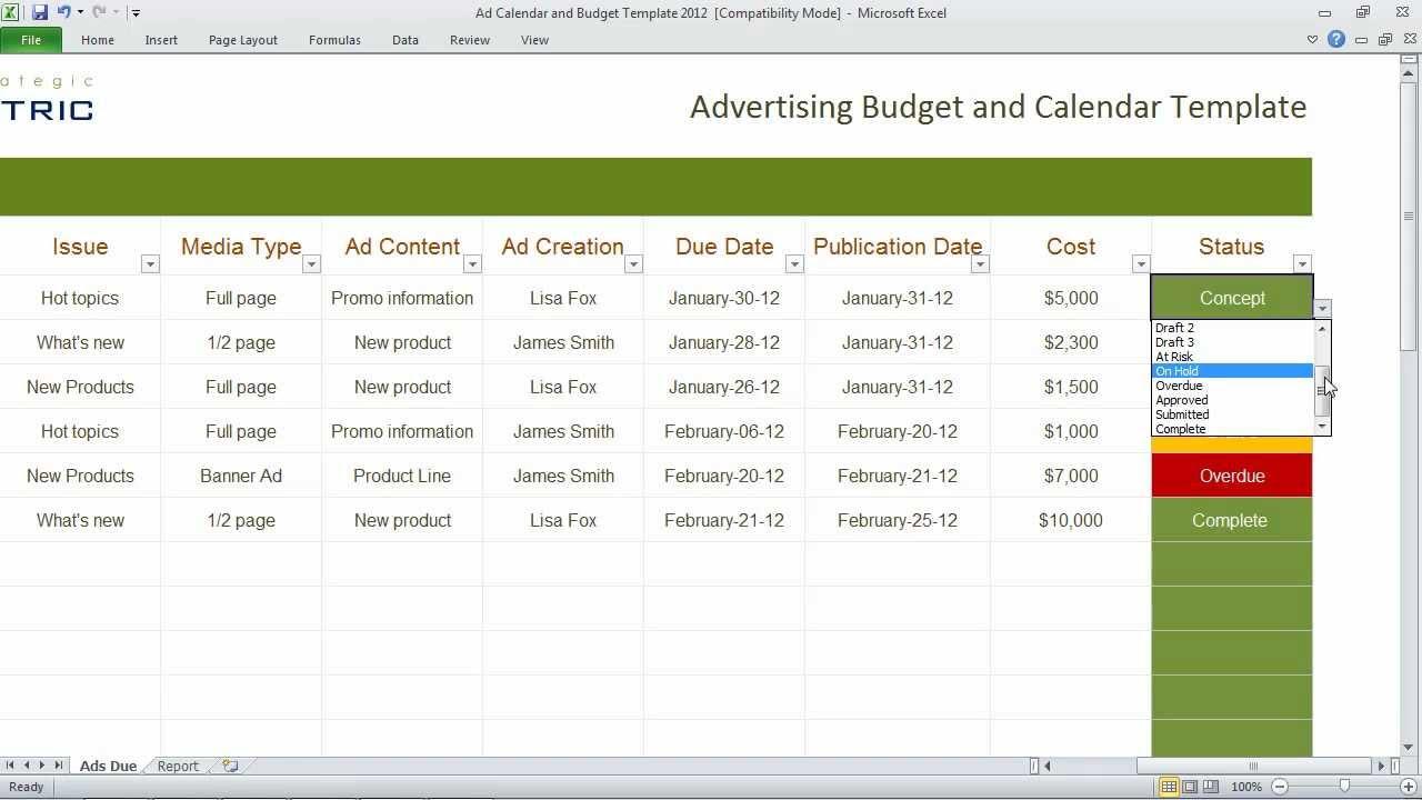 Excel Budget Templates | Excel Calendar Templates | Excel