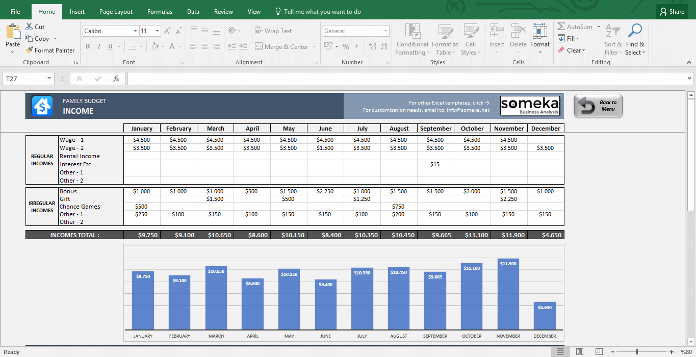 Family Budget Excel Template For Household New House Spreadsheet