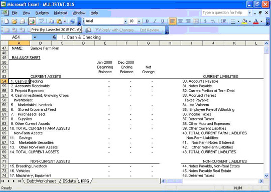 Cash Flow Budget Template Farm Excel Xls Spreadsheet Using