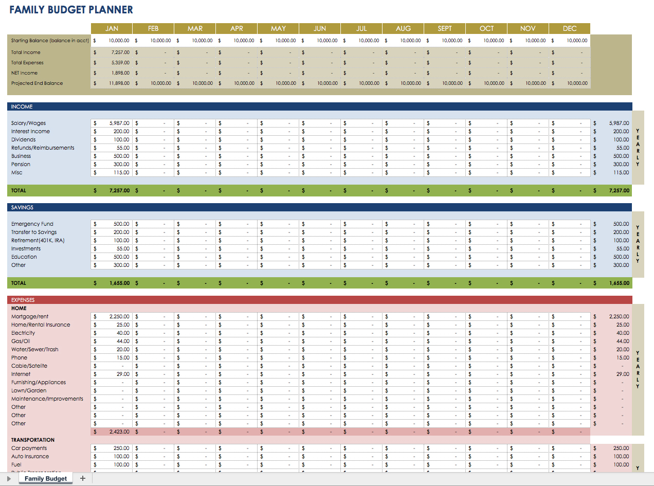 001 Template Ideas Personal Finance Planner Ic Family Imposing