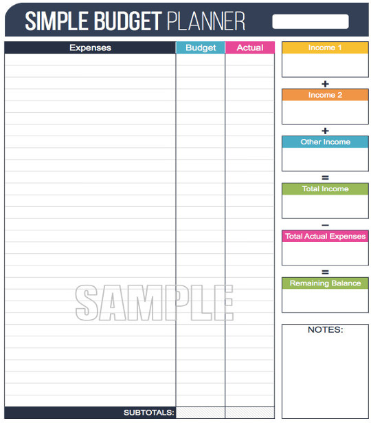 12+ Simple Budget Templates   Free Sample, Example, Format