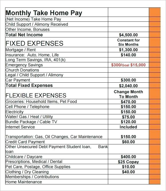 Household Budget Template Free Download Daycare Budget Template