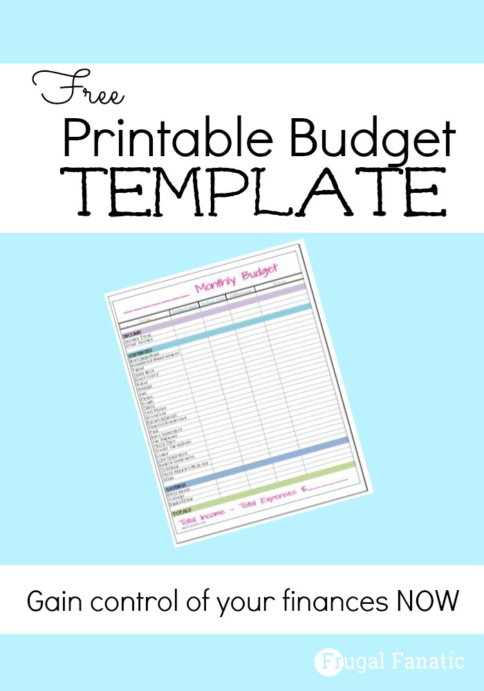 Free Printable Household Budget Form | Home Organization | Monthly