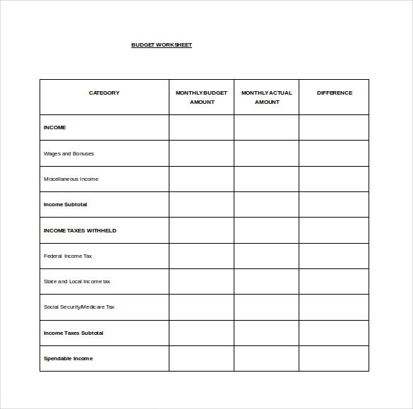 005 House Budget Template Free Plan Templates 20home Spreadsheet