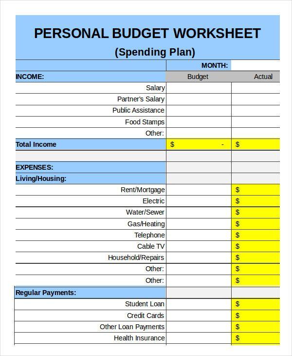 Family Budget Templates | 18+ Doc, Xls & PDF Free Printable