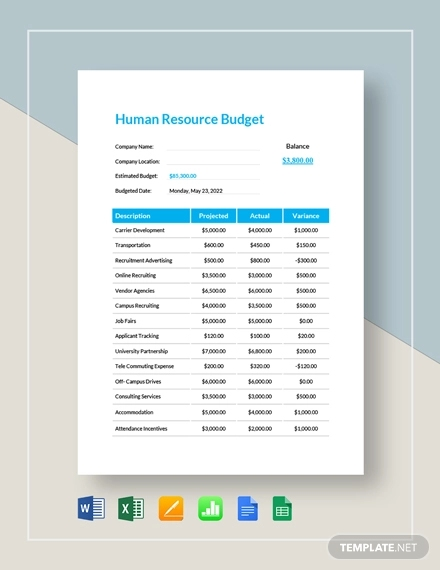 12+ Human Resource Budget Examples & Samples | Examples