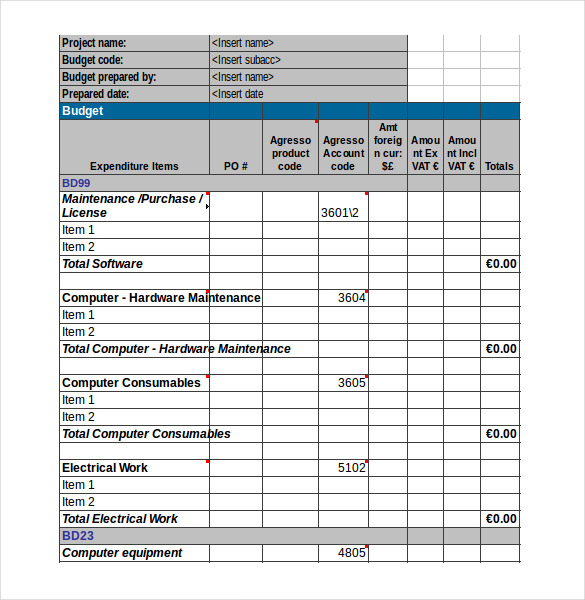 11+ Expenditure Budget Templates  Word, PDF, Excel | Free
