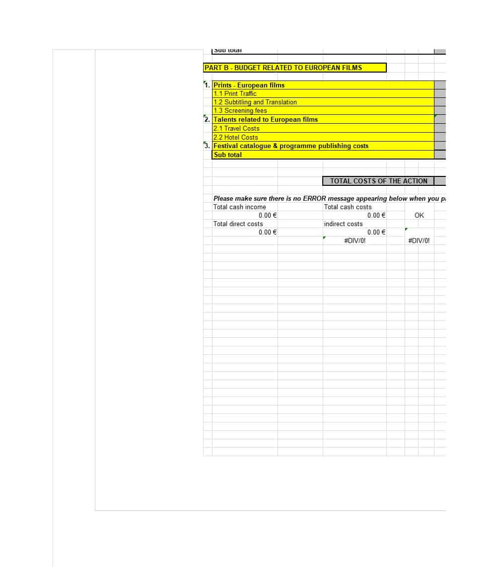 022 Indie Film Budget Template Plan Singular Templates Example