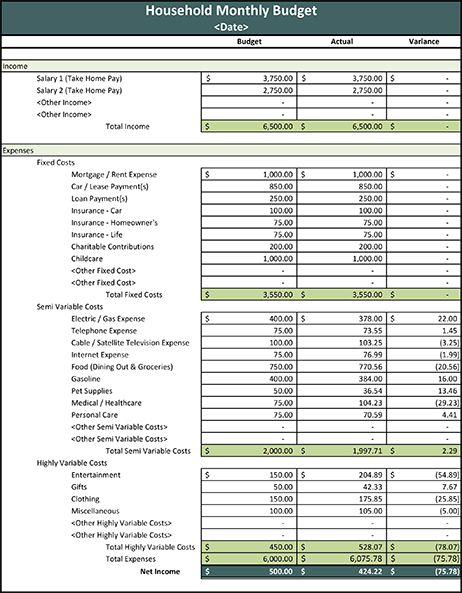 23 Images of Excel Template For Budget Interior Design | unemeuf.com
