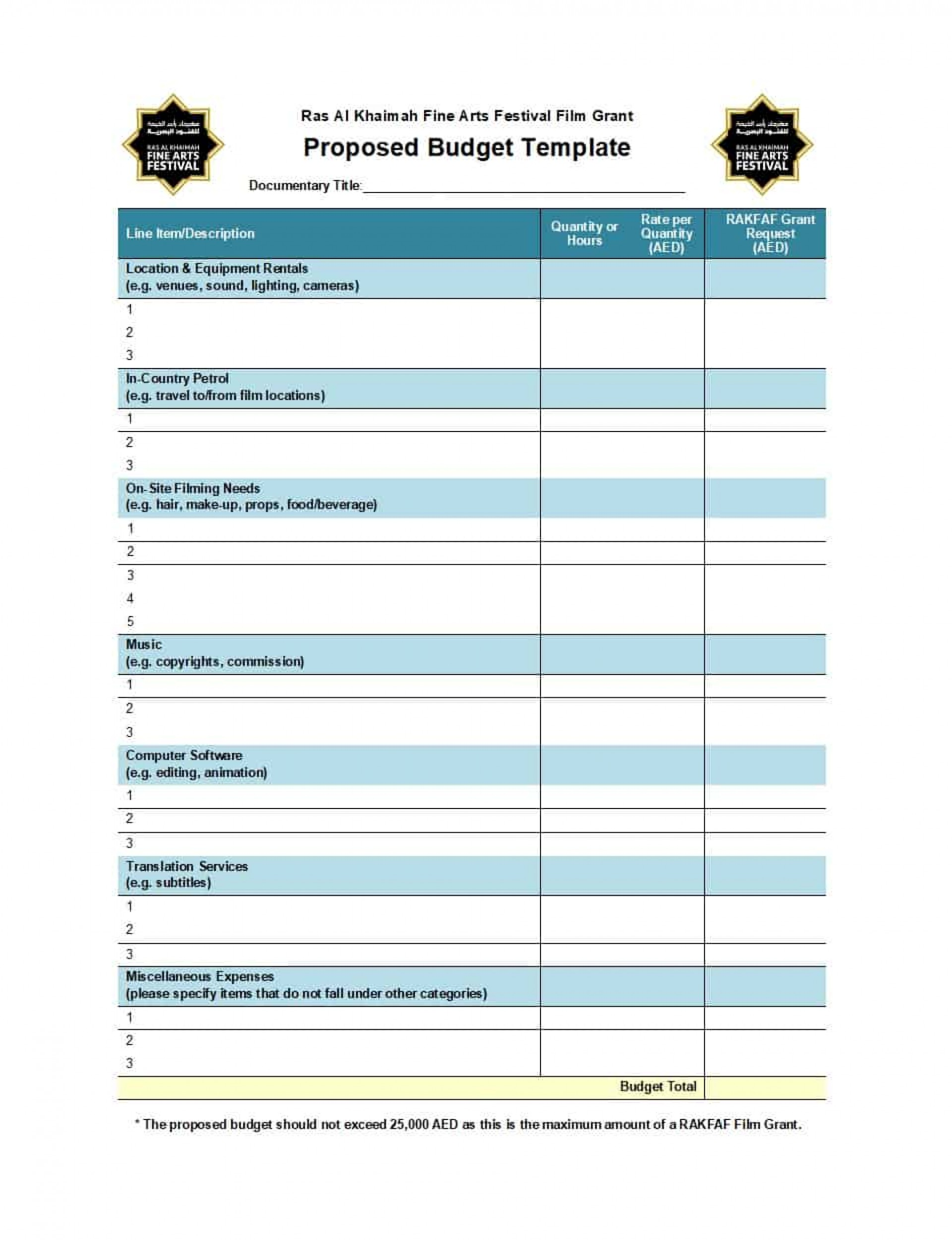 006 Line Item Budget Template Singular Ideas Format Sample