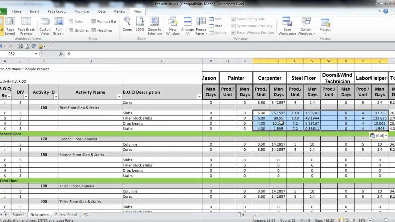 manpower planning excel template virtren | Manpower Planning