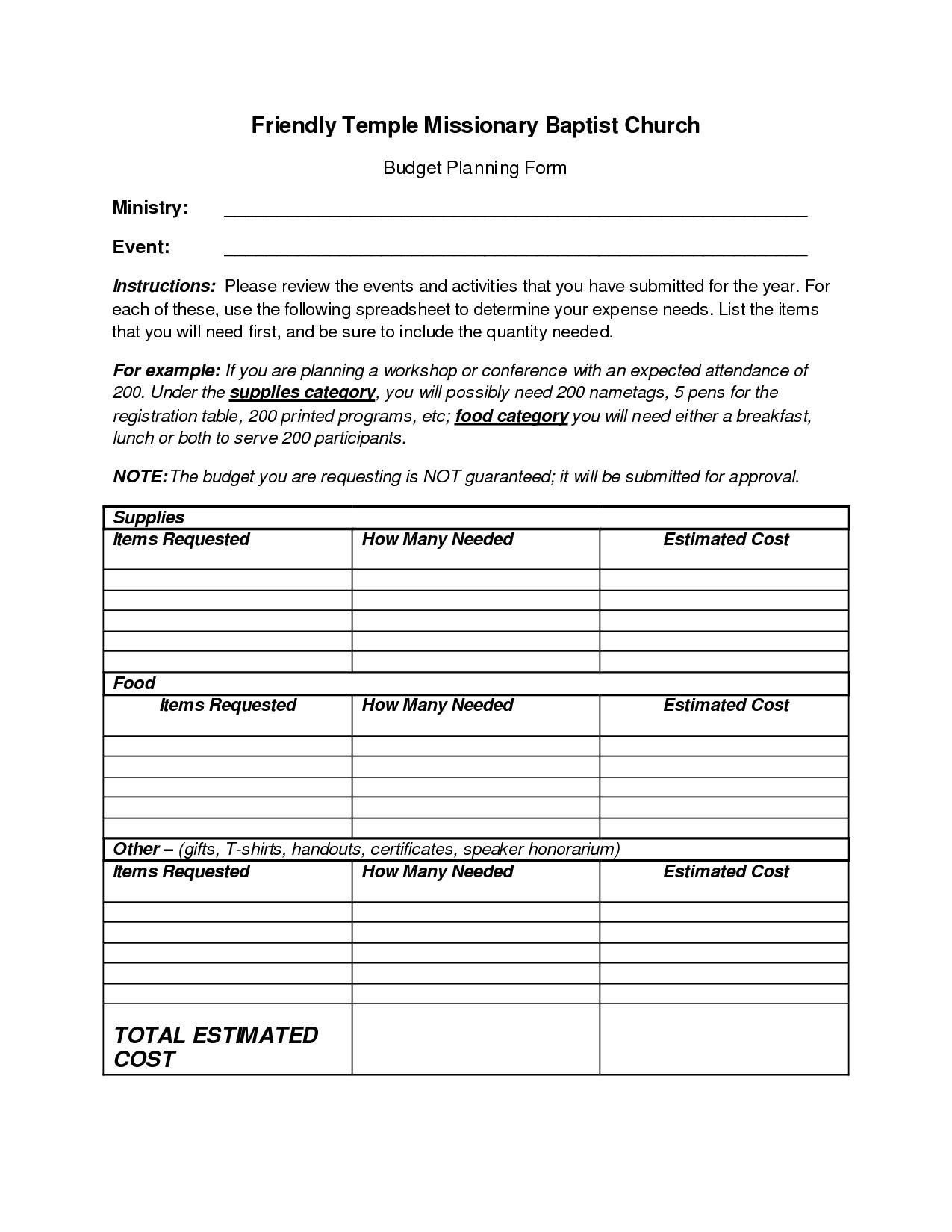 028 Plans Church Budget Worksheet 127590 Sample Fantastic Template